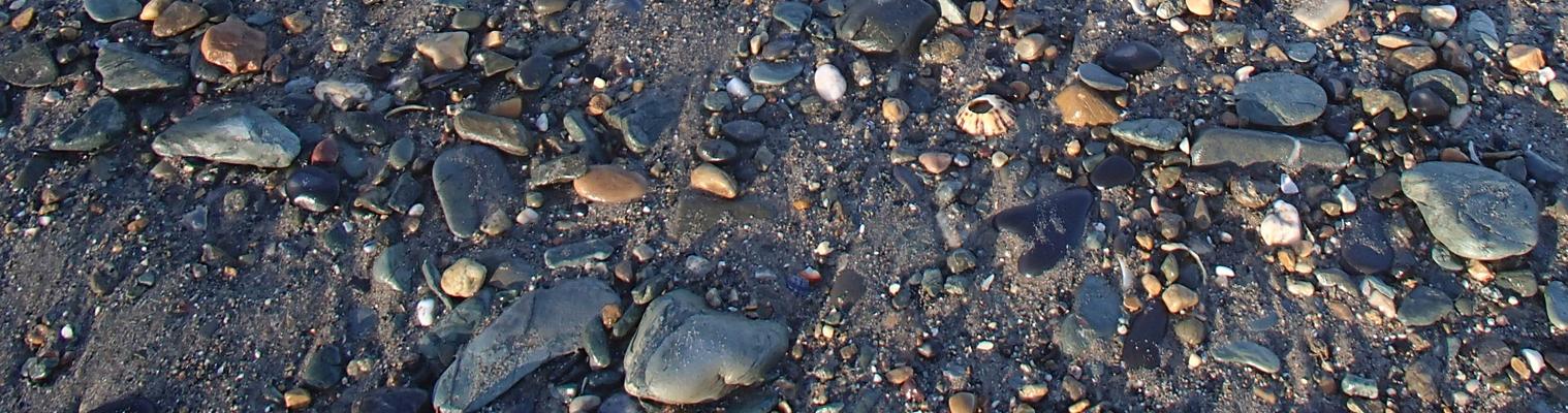 Cemaes beach pebbles
